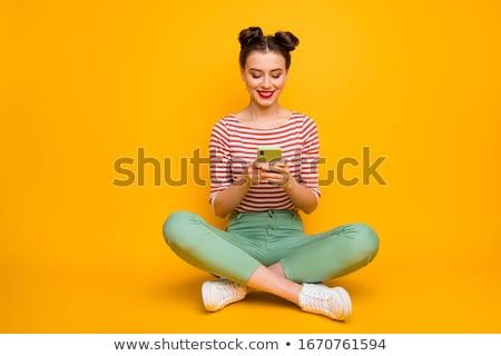 Meisje vergadering top post kind reizen Stockfoto © IS2