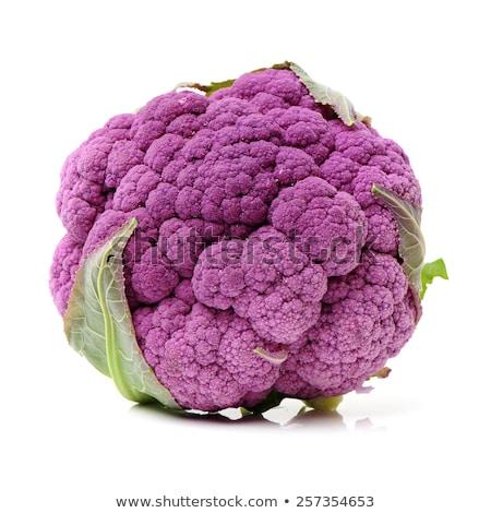 新鮮な · 紫色 · カリフラワー · 青 · ボウル · フル - ストックフォト © zhekos