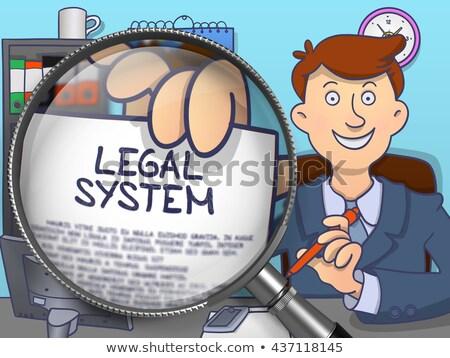 Legal System through Lens. Doodle Style. Stock photo © tashatuvango