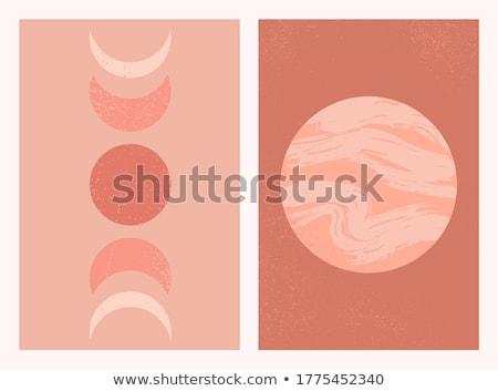 ściany tekstury czerwony złoty stiuk Zdjęcia stock © Taigi