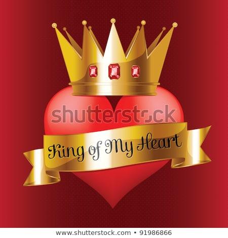 Ruby heart, happy valentines day, vector illustration Stock photo © carodi