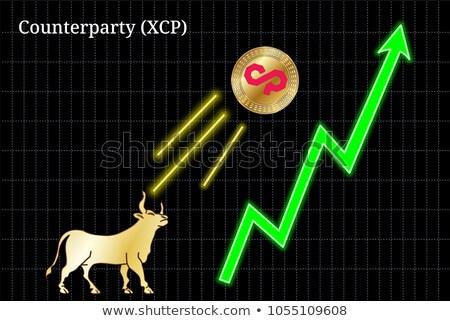 Vector munt pictogram element internet geld Stockfoto © tashatuvango
