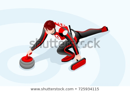Stone for curling vector cartoon illustration. Stock photo © RAStudio