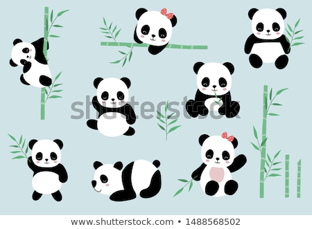 Panda on the Tree illustration Stock photo © brux