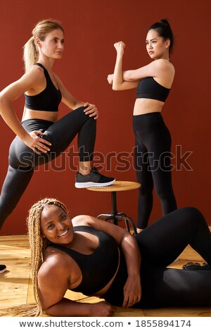 удивительный · спортивных · молодые · Lady · Постоянный · позируют - Сток-фото © deandrobot
