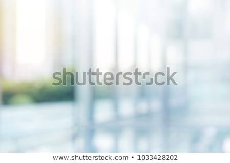 abstract blue glass blur background from building stock photo © artjazz
