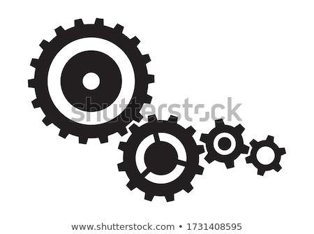 Vector cog wheels and gears set Stock photo © blumer1979