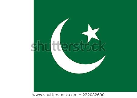 Pakisztán zászló fehér háttér csillag szél Stock fotó © butenkow