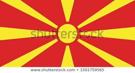 macedonia flag vector illustration stock photo © butenkow