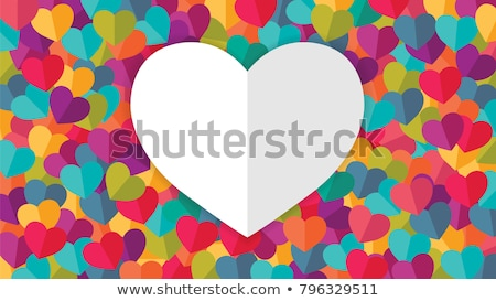 abstract colorful hearts background  stock photo © pathakdesigner