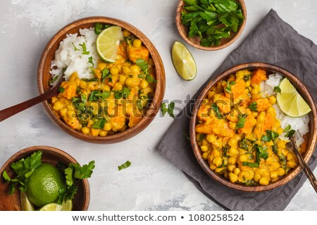 curry chickpea and rice stock photo © m-studio