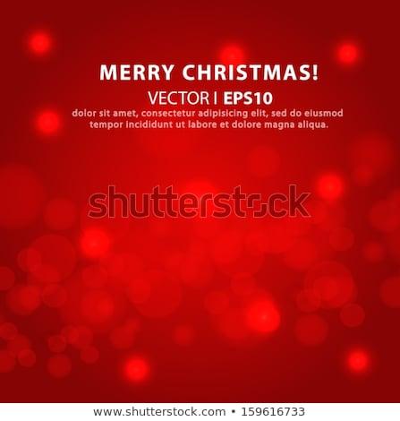 Bokeh ışıklar yılbaşı Noel ışık Stok fotoğraf © dmitriisimakov