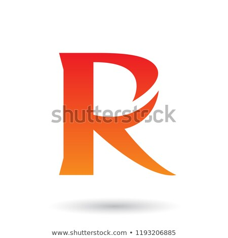 Red and Orange Gradient R with a Spiky Tail Vector Illustration Stock photo © cidepix