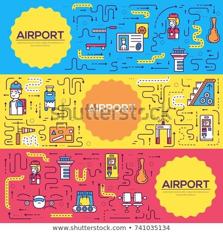 personnel · travail · personnes · bagages · aéroport · design - photo stock © Linetale