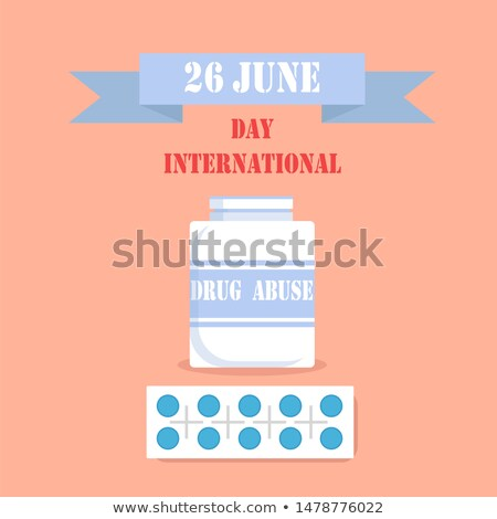 26 June Drug Abuse Day Healthcare Colorful Poster Stock photo © robuart