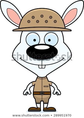Cartoon Smiling Zookeeper Bunny Stock photo © cthoman