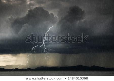 Rainy thunderstorms at night Stock photo © bluering