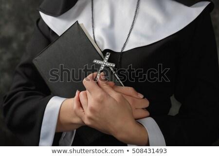 Nun women_beauty stock photo © toyotoyo
