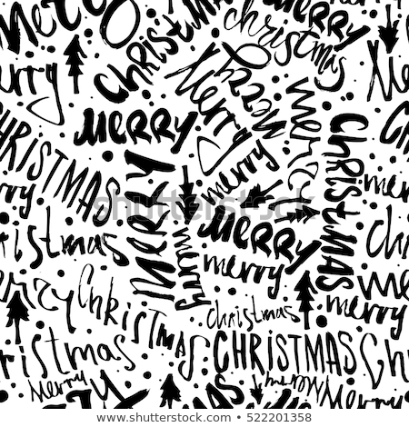 magic of christmas lettering seamless pattern design holiday typography background for xmas cards stock photo © jeksongraphics