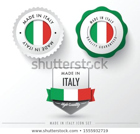 Modernes vecteur Italie étiquette isolé blanche Photo stock © kurkalukas
