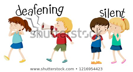 Deafening and silent scene Stock photo © bluering