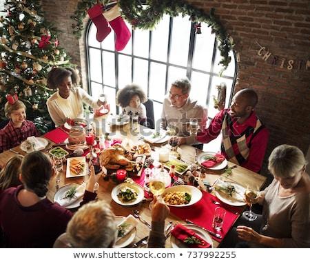 Christmas Holiday Eating Stock photo © Lightsource