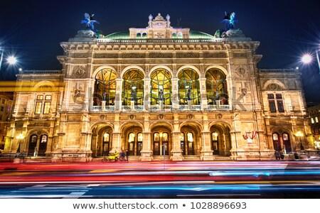 опера Вена ночь Австрия небе Сток-фото © neirfy