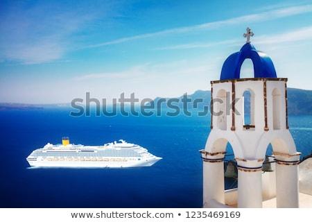 Санторини · Греция · острове · небе · синий - Сток-фото © neirfy