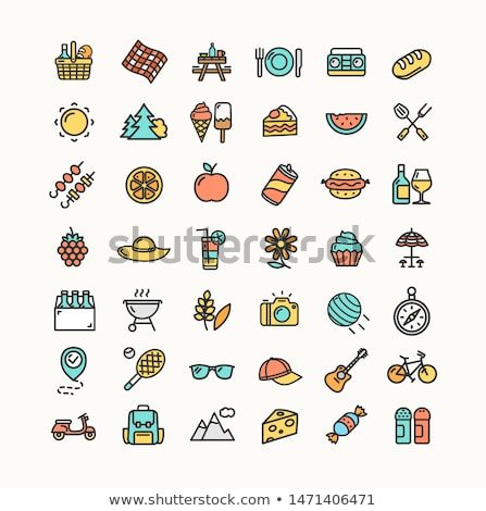 party barbecue hot icons set vector illustration stock photo © robuart