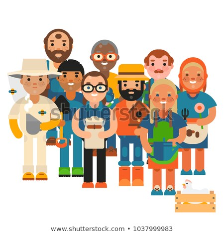 Harvester Person with Bucket Vector Illustration Stock photo © robuart