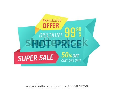 super sale and hot price on geometric tapes advert stock photo © robuart