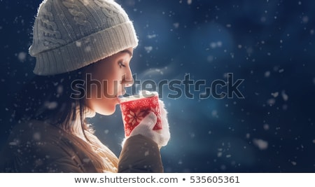茶 · 冬 · 公園 · 肖像 · 幸せ - ストックフォト © anna_om