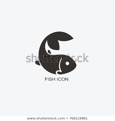 colorful aquarium fish logo icon vector symbol Stock photo © blaskorizov