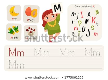 m is for educational game for children stock photo © izakowski