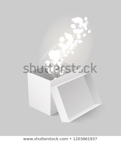 Package Box Made of Carton with Glowing Vector Stock photo © robuart