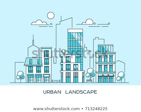 City life - flat design style colorful illustration Stock photo © Decorwithme