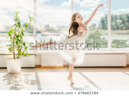 girl is studying ballet stock photo © choreograph