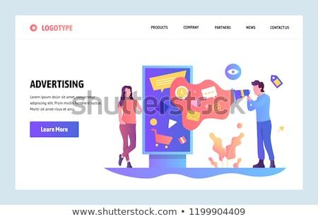 Açık reklam dizayn iniş sayfa Stok fotoğraf © RAStudio