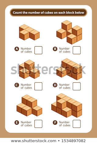Math worksheet for counting numbers Stock photo © colematt