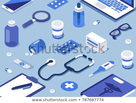 Drugs isometrische iconen eps 10 medische Stockfoto © netkov1