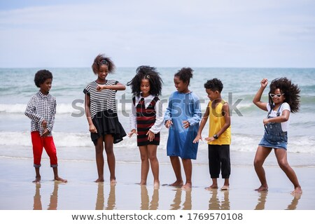 young african kids at the beach stock photo © bluering