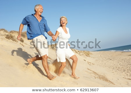 actieve · senioren · romantiek · actief · romantische · tennis - stockfoto © kzenon