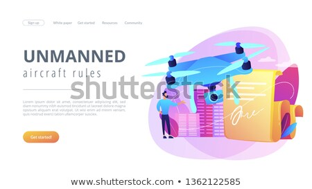 Drone flying regulations concept landing page. Stock photo © RAStudio