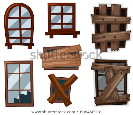 Windows in good and bad condition Stock photo © colematt