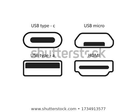 vector set of usb hub Stock photo © olllikeballoon
