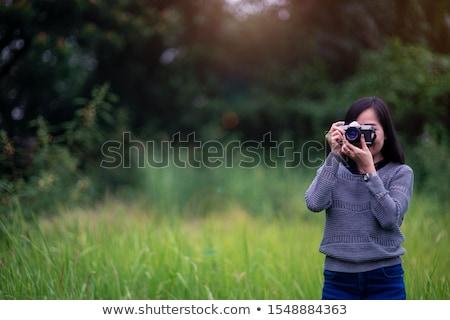 美人 · 屋外 · 写真 · 小さな · セクシーな女性 - ストックフォト © dolgachov