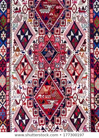 伝統的な カーペット 典型的な 幾何学的な パターン 詳細 ストックフォト © boggy