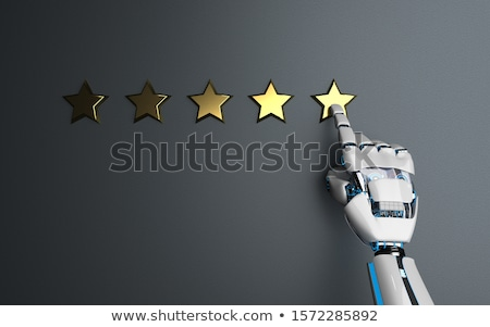 Humanoid Robot Golden Stars Rating Stock photo © limbi007