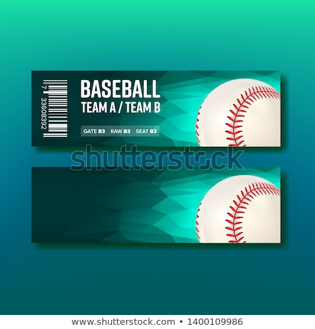 Kleurrijk ticket bezoeken baseball sjabloon vector Stockfoto © pikepicture