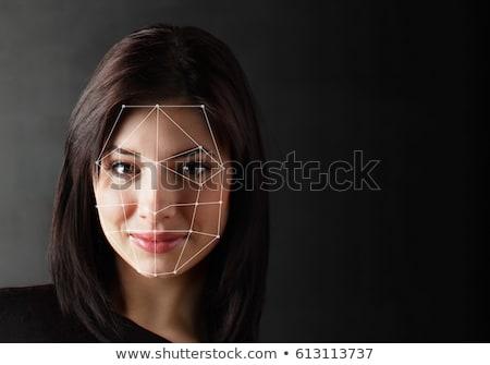 Biometric verification - woman face detection Stock photo © ra2studio